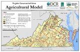 Virginia Agricultural Model Sample Map