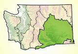 Map of the Columbia Plateau ecoregion