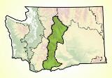 Map of the East Cascades Ecoregion in Washington